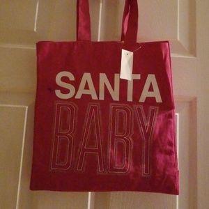 Santa Baby Sequin Tote